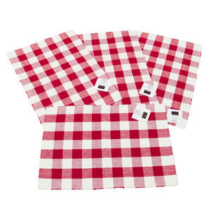 Buffalo Check Sienna Red and White Place Mats PK4